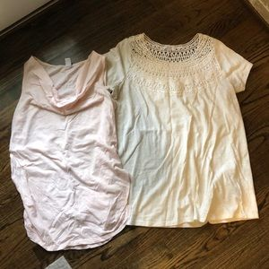 Two maternity tops